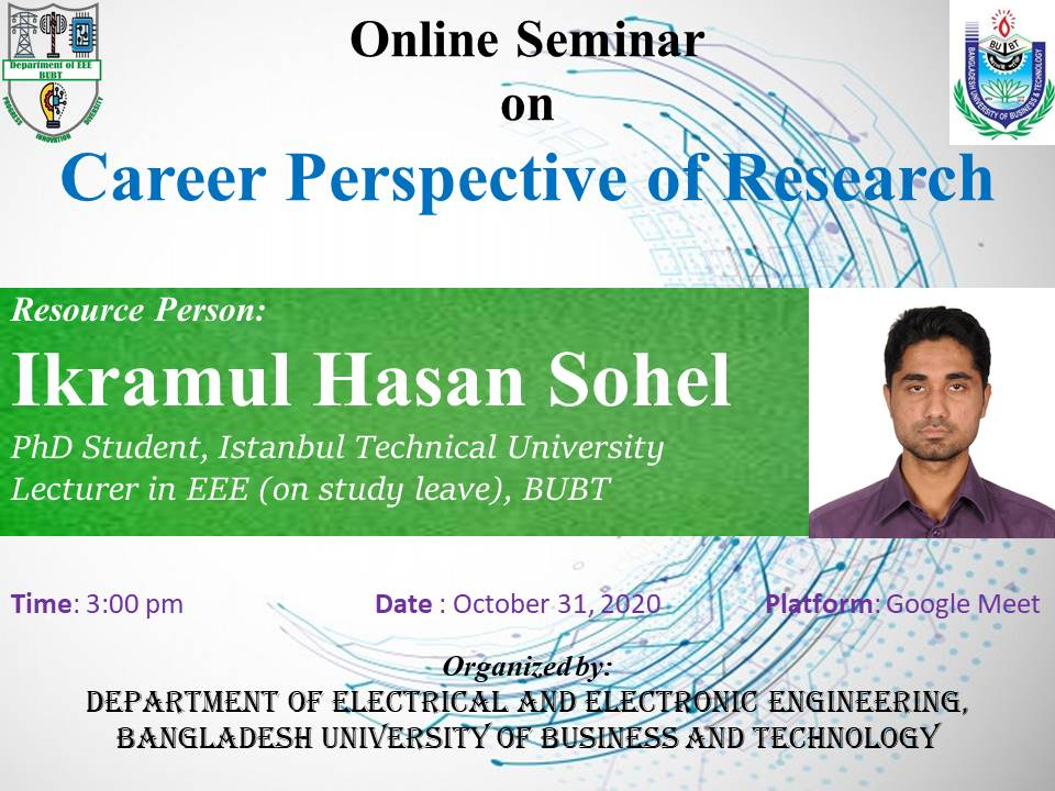 Online Seminar on Career Perspective of Research