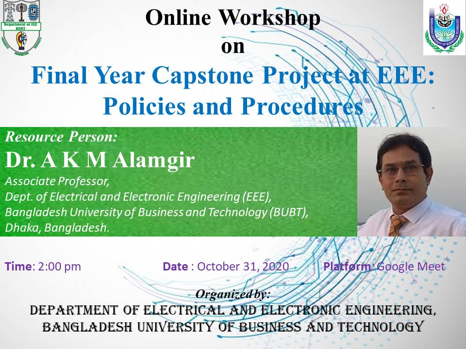 Online Workshop on Final Year Capstone Project at EEE: Policies and Procedures