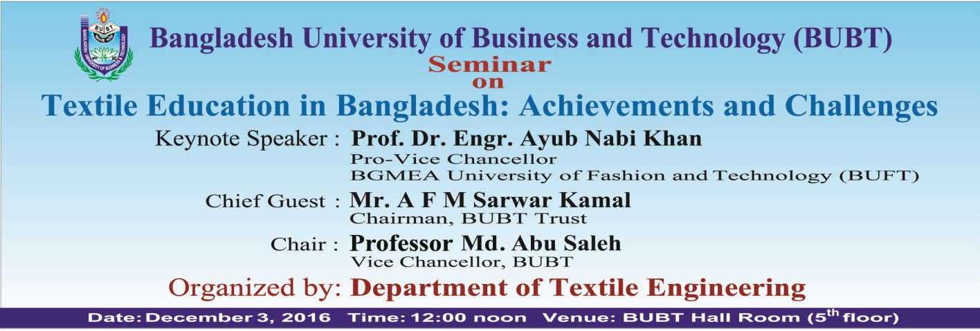 Bangladesh University Of Business And Technology Bubt