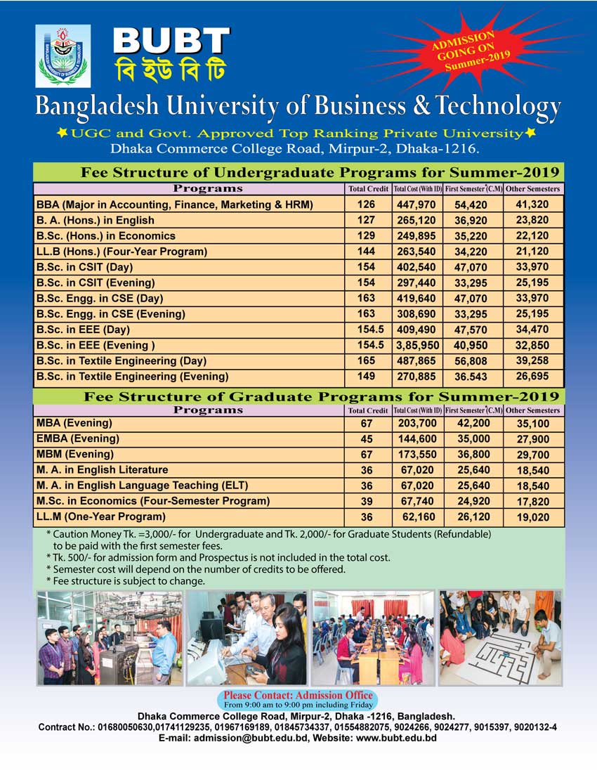Bangladesh University of Business and Technology (BUBT)