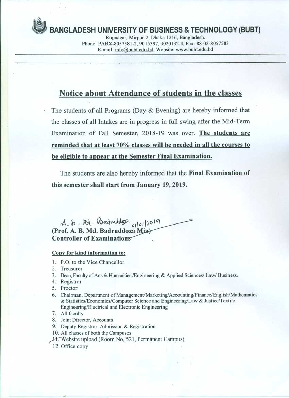 Bangladesh University Of Business And Technology Bubt